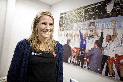 Nå spiller hun: Etter to sesonger utenfor banen i cupfinalen er Gro Hammerseng endelig klar for å spille om NM-gull for Larvik HK. Hun fikk imidlertid gullet i 2010, selv om hun ikke spilte finalen. (Arkivfoto)