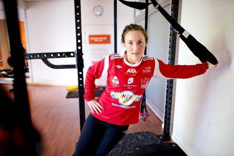 Jeanette Haga Holgersen fikk tirsdag beskjeden om at hun har røket korsbåndet i høyre kne for andre gang på under ett år. (Arkivfoto)
