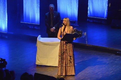 Christina Brynildsen vant sang- og musikkprisen med sine 15.000 kroner.