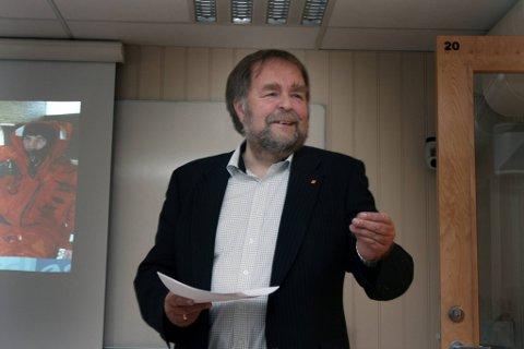 Arve Knutsen er fornøyd med at rørene fra Aasta Hansteen skal betongbelegges i Mo i Rana, noe han mener styrker hele Helgeland som leverandør. Foto: Nils Lorentsen
