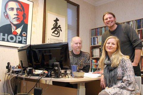 Michael Dorfman, Silje Jansen Nybø og Terje Hellesen har stått på for å gjere nettbokhandelen Bokdykk lønsam. Men til slutt måtte eigarane kaste korta.