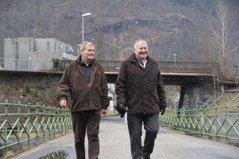 I KOMMUNESTYRET. Kåre Instanes og Kjell Einar Nilsen er Demokratene i Norges sine representanter i kommunestyret i Odda.