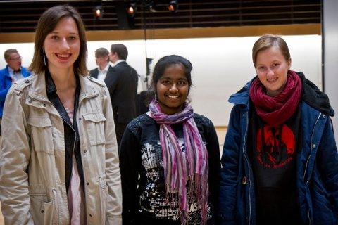 Gro Anette Heggheim, Jawana Thayaseelan og Andrea Olsen Eide.