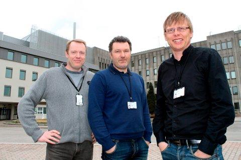Bjørnar Werswick, Haavard Aakre og Vidar Mathiesen i oljeteknologiselskapet InflowControl har utviklet en ventil som skal føre til økt lønnsomhet ved oljeutvinning. Nå får de 20 millioner kroner til forskning og utvikling av produktet.