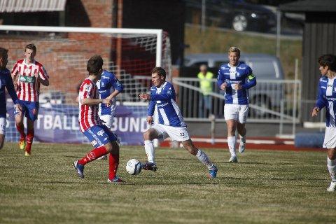 Tom Erik Breive og Sarpsborg 08 røk ut av cupen da de tapte 0-1 borte mot Kvik Halden i andre runde onsdag kveld. (Foto: Tobias Nordli)