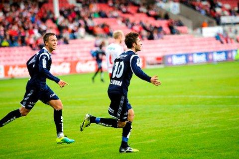MOTTAKERE: KBK, her representert ved Sverre Økland og Liridon Kalludra, vil motta 161.000 kroner fra Grasrotandelen for årets åtte første måneder.