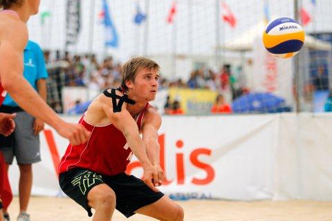 Bjarne Nikolai Huus tok saman med makker Christian Sandlie Sørum sølv i VM i kveld.