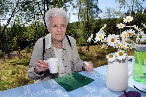 88 år: Som småjente var Aud Bråten (f. Mangseth) på Skålbergsætra tidlig på 30-tallet.