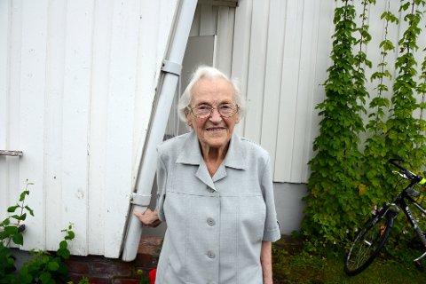Frisk. Margit Larsen var så skrøpelig hun nesten ikke klarte å gå. Etter hjemmerehabiliteringen er hun nå frisk nok til å klare seg på egen hånd.