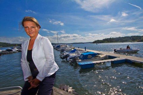 GLEDER SEG: Høyre taper terreng på Sentio-målingen, men toppkandidat Ingjerd Schou gleder seg over at partiet ligger rundt 30 prosent oppslutning.
