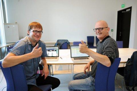 Juryen: Andreas Gilhuus og Arve Karlsen er to av jurymedlemmene som har nominert Alex Perry til regionsfinalen i Tønsberg i kveld. De har begge tro på at Larvikgutten kan nå helt til topps.