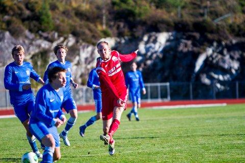 SKÅRA: Alexander Sellvold skåra eit av seks NBK-mål no i ettermiddag