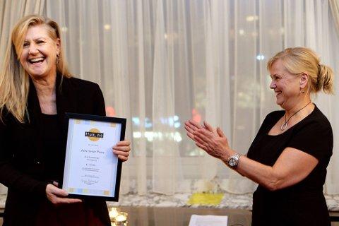 Norsk rocks førstedame Anne Grete Preus er tildelt årets Rolf Gammleng-pris. Hun fikk prisen av kulturminister Thorild Widvey.