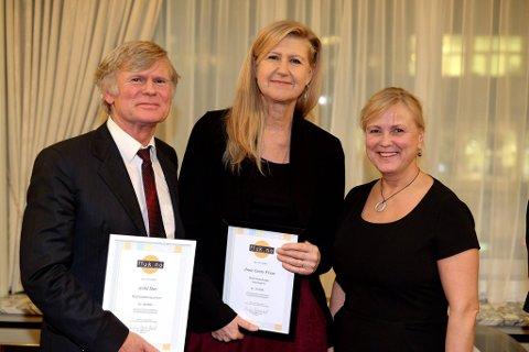 Anne Grete Preus er tildelt årets Rolf Gammleng-pris. Arild Stav ble årets studiomusiker. De fikk prisen av kulturminister Thorild Widvey.