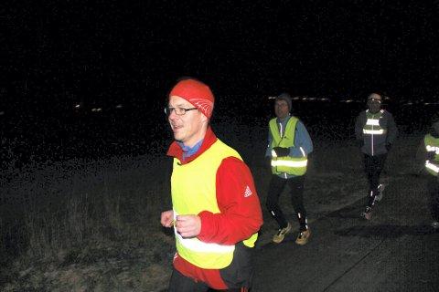 MÅLBEVISST: Tom Erik Horn benytter muligheten Holmestrand maraton gir til å nå et nytt mål. Foto: Magnus Erlingsen