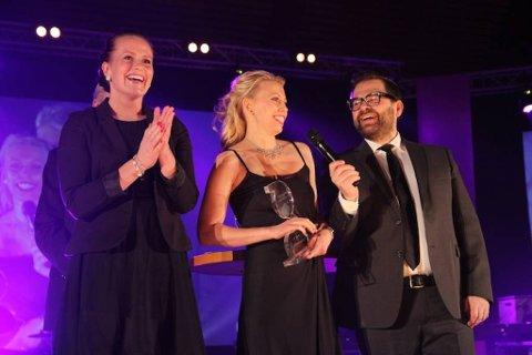 Kraft Dansekompani ble tildelt prisen for beste logo/vignett under Gallaria 2014. Foto: Jens Overvik