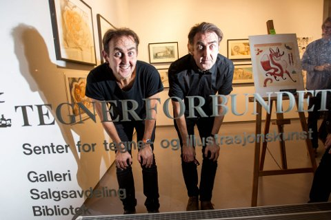 EKTE KJERRINGER: Brødrene Egil og Svein Nyhus er glade og stolte over prisen. Foto: Lisbeth Andresen