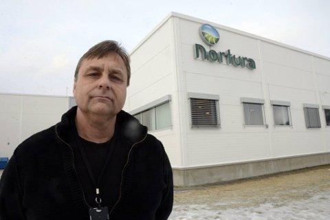 oppstart: Fabrikksjef Roy Albertsen ved Nortura Bjerka er fornøyd at de maktet å starte opp driften igjen ei uke etter driften. Han roser innsatsen til dem har stått på for å renovere bedriften etter brannen i et teknisk rom. Foto: Arne Forbord