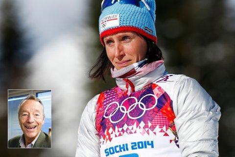 SORG FORBUDT: Gerhard Heiberg og IOC refset i går Marit Bjørgen og de norske jentene for å vise sorg etter at en bror og treningskamerat døde dagen før.