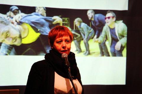 DELTOK: HT-sjef Nina Wester hadde innlegg, og satt i panelet under debatten om Tromsøs kunstfremtid.