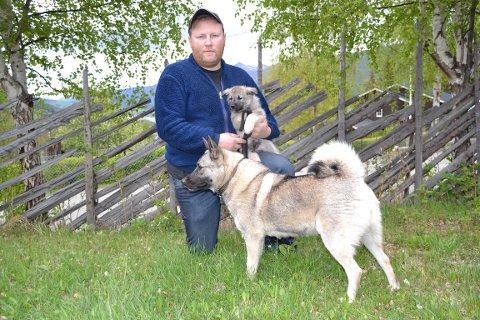 MØTTE ULV: Egil Skogum på Lalm møtte ulven i Vestsidevegen på Lesja. Skogum har sett ulv før, han har gode bilder av sporene. Skogum driver hundeoppdrett, og er med på det kommunale fellingslaget i Vågå. Foto: Helene Hovden