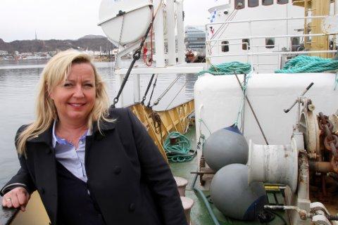 Store planer. Kristin Konradsen, salgs- og markedssjef i Rederiets Saltens AS kaller 2014 en mellomsesong.