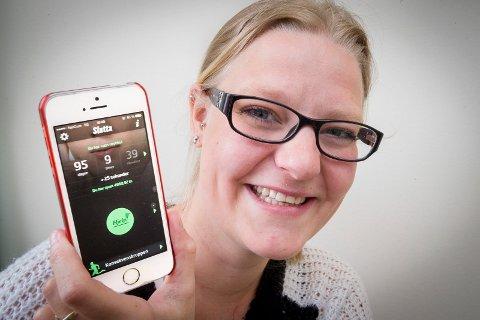 HJELP: Guro Høiberg Aas (26) lastet ned app'en «slutta», og har hatt god hjelp av den i prosessen med å slutte.