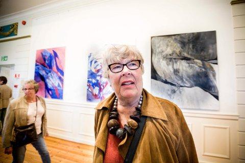 SPENNENDE UTSTILLING: ? Dette er blitt en spennende utstilling og bok, sier kunstner Inger Sitter om utstillingen på Festiviteten. BEGGE FOTO: TOM GUSTAVSEN
