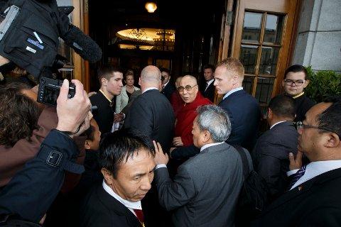 Dalai Lama fikk en varm velkomst i Oslo.