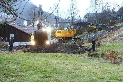 Her gravde politiet etter Dung i Krabbedalen. Så langt har alle søk vært resultatløse. Bildet er fra 2007.