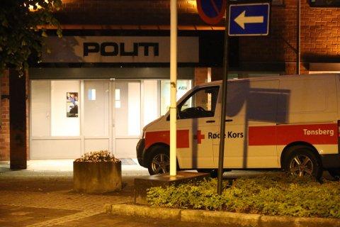 Røde Kors på plass under leteaksjonen onsdag kveld.