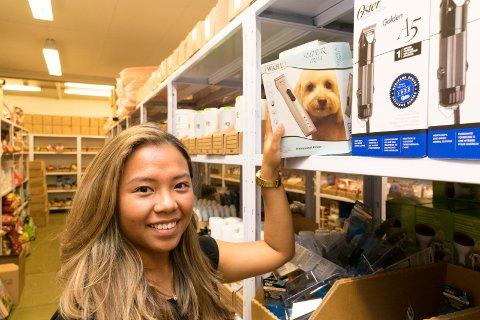 ? Klippeutstyr for hunder er en svært populær nettbutikk-artikkel, sier Mook Denice Hagen.
