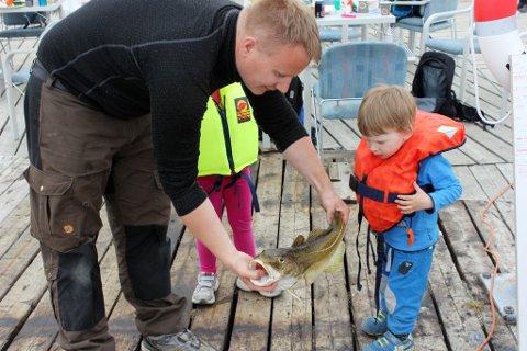 Leander (2,5) fanget den største fisken under Kystens dag på Storekorsnes.