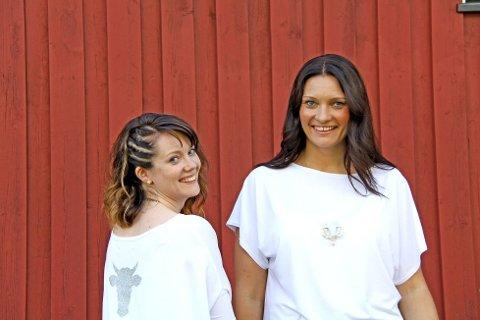 Line Westgaard fra Ås og Elin Henriksen Billing fra Drøbak står bak kolleksjonen Kalvedans