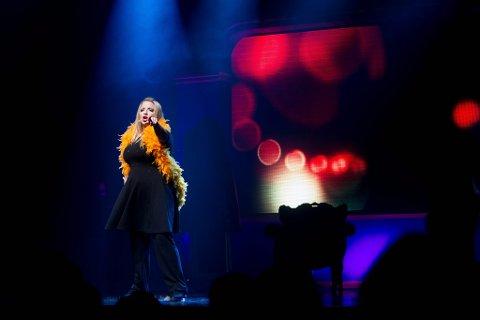 """STOR STEMME: Reidun Sæther har imponert i musikaler på Oslo-scenene de siste årene, og i Melodi Grand Prix-finalen 2012. I høst skal hun være en av ti kandidater i NRKs konkurranse """"Stjernekamp"""". Her fra """"Reidun og Per elsker musikaler"""" i Lillestrøm kultursenter i fjor høst."""