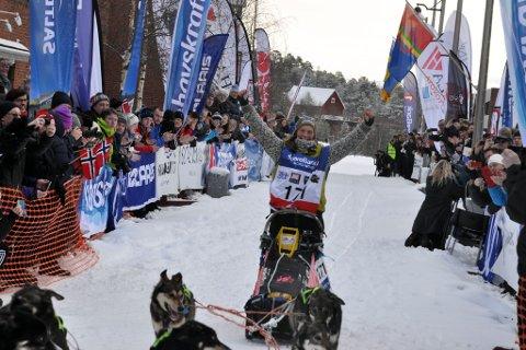 Årets vinner av 100-mila i Finnmarksløpet: Sigrid Ekran.