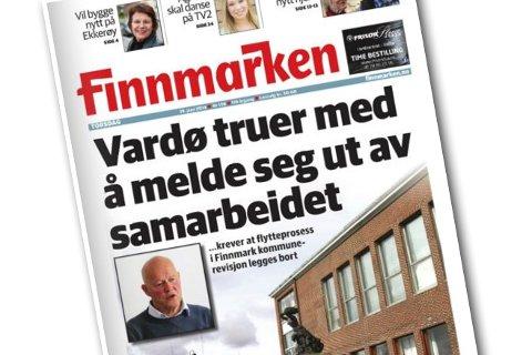 Finnmarkens forside 19. juni.