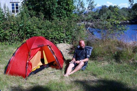 Campen i ein hage i Florø.