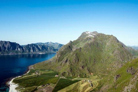 Høyest: Himmeltinden er Vestvågøys høyeste fjell.