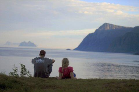 FANTASTISK NATUR: ? Lofoten er Norges vakreste sted, mener sørlandsjenta Malin.