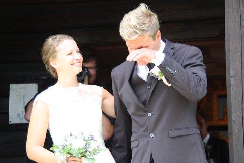 Ellen var blid og Øystein var synlig rørt på den store dagen.