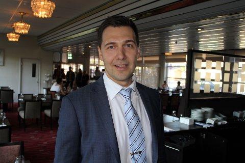 KLAGER IKKE: Rica-direktør Jevgeni Mlinnikov er svært fornøyd med oppslutningen.