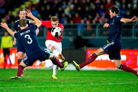 Marcus Pedersen ser ut til å nærme seg en overgang til MFK. Foto: Svein Ove Ekornesvåg / NTB scanpix