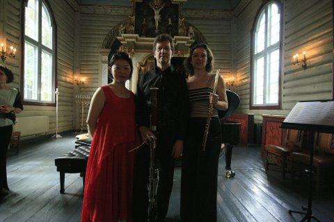 Jie Zhang, Dag Jensen og  Andrea Lieberknecht var en ren fornøyelse for de som lørdag hadde tatt turen til Drøbak kirke.