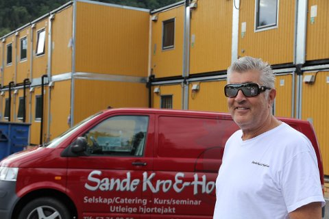 FRÅ 15 TIL 75 HOTELLROM: Per Kapstad utvidar hotellet med 60 rom i mellombels brakkeriggar.