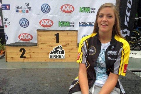 IMPONERTE: Mathilde Forsmo Johansen syklet fort under årets Birken og rullet inn til en imporende femteplass i sin klasse.  (Foto: Per Vikan)