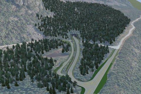 Skissene til den nye tunnelen gjenom Tjernfjellet. Nå blir det fortgang i planene.