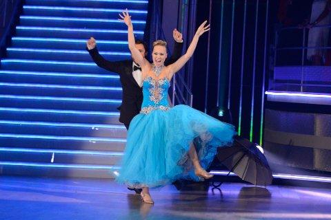 Leder: Agnete Johnsen og hennes dansepartner Egor Filipenko.