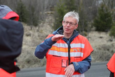 Bård Nyland er prosjektleder for vegutviklingspakken E6 Helgeland. Foto: Tomas Rolland.