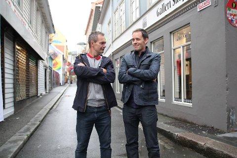 Tegneserieskaperne Frode Øverli og Børge Lund har bestemt seg for å tulle med hverandres karakterer i «Pondus» og «Lunch». I helgen var de på plass på Raptus tegneseriefestival i Bergen.